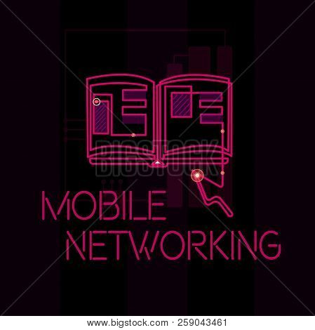 Word Writing Text Mobile Networking. Business Concept For Communication Network Where The Last Link