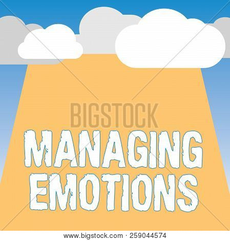 Word Writing Text Managing Emotions. Business Concept For Controlling Feelings In Oneself Maintain C