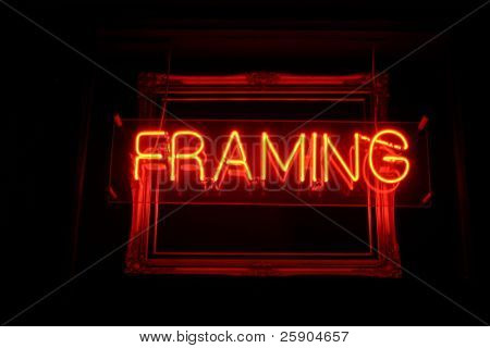 Neon Sign series  framing