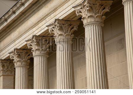 Vintage Old Justice Courthouse Column