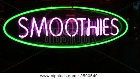 """Neon Sign Series """"smoothies"""""""