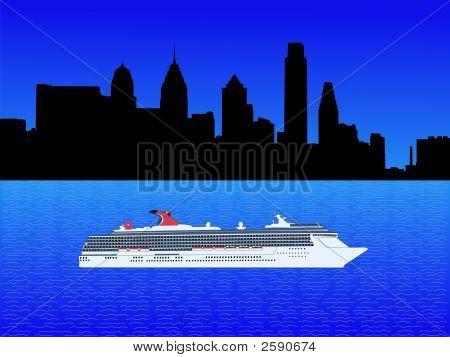 Cruise Ship In Philadelphia