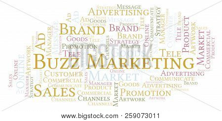 Word Cloud With Text Buzz Marketing. Wordcloud Made With Text Only.
