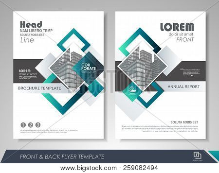 Blue And Green Abstract Presentation Slide Templates. Brochure Template, Brochures, Brochure Layout,