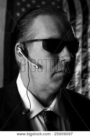 a secret service agent concept