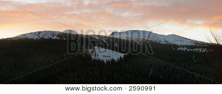 Winter Daybreak Mountain Landscape