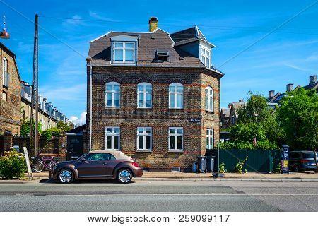 Copenhagen, Denmark - July 11, 2018. Beautiful Architecture Of Copenhagen. Architecture City Landsca