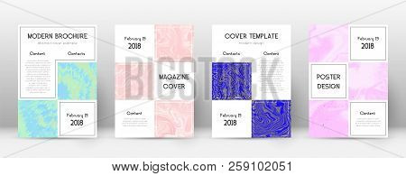 Abstract Cover. Outstanding Design Template. Suminagashi Marble Business Poster. Outstanding Trendy