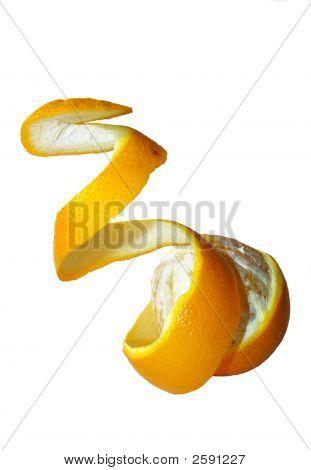 Orange With Curly Peeled Skin