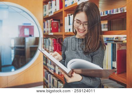 Back To School Education Knowledge College University Concept, Beautiful Female College Student Hold