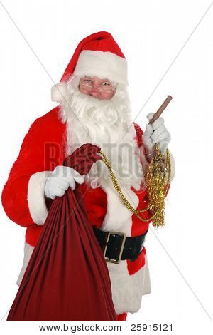 portrait of Santa Claus              isolated on white