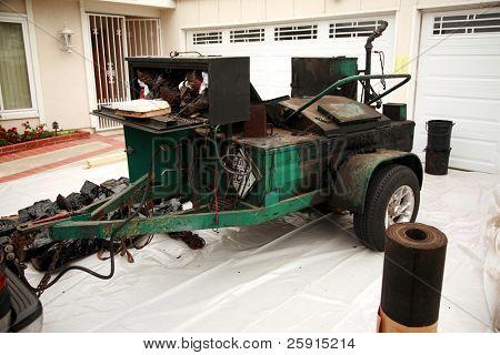 tar trailer and boiler