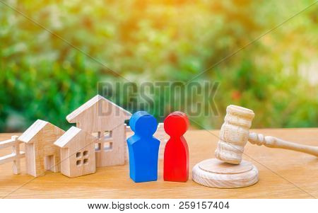 clarification of ownership of the house / real estate. court and division of property. concept of law and lawyer, judiciary and legislature, notaries and insurance indemnities. rivals in business. poster