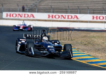 September 14, 2018 - Sonoma, California, USA: JORDAN KING (20) of England takes to the track to practice for the Indycar Grand Prix of Sonoma at Sonoma Raceway in Sonoma, California.
