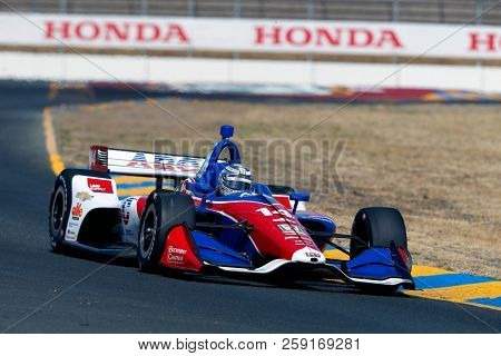 September 14, 2018 - Sonoma, California, USA: TONY KANAAN (14) of Brazil takes to the track to practice for the Indycar Grand Prix of Sonoma at Sonoma Raceway in Sonoma, California.