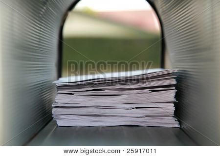 mail box filled with letters to santa claus