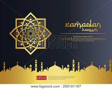 Abstract Mandala Ornament Pattern Element Design With Paper Cut Style For Ramadan Kareem Islamic Gre