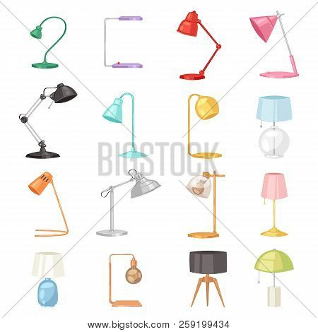 Table Lamp Vector Desklamp And Reading-lamp For Electric Lighting Decoration In Office Or Hotel Illu