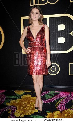 Katja Herbers at the HBO's Official 2018 Emmy After Party held at the Pacific Design Center in West Hollywood, USA on September 17, 2018.