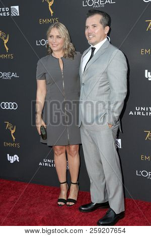 LOS ANGELES - SEP 15:  Justine Maurer, John Leguizamo at the TV Honors Emmy Nominated Performers at the Wallis Annenberg Center on September 15, 2018 in Beverly Hills, CA