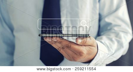 Businessman Using Searching Browsing Internet Internet Of Things (iot)