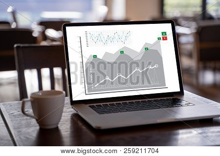 Customer Marketing Sales Dashboard Graphics Concept Business Man Sales Increase Revenue Shares