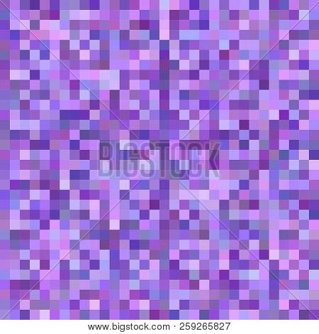 Abstract Square Mosaic Background - Vector Design From Squares In Purple Tones