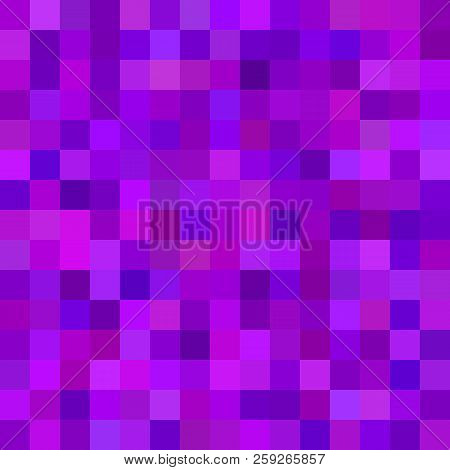 Abstract Square Tile Mosaic Background - Geometrical Vector Illustration From Colored Squares