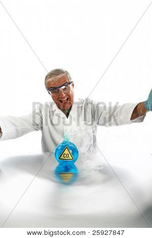 a Mad Scientist releases dreaded Carbon Dioxide aka