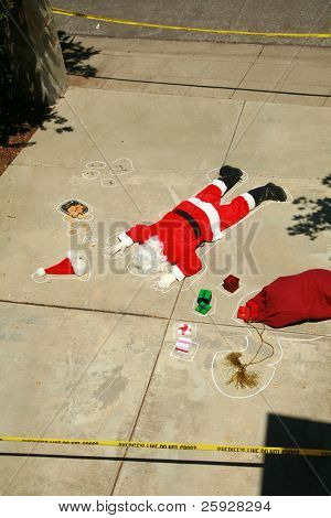 OH MY GOD! Someone SHOT SANTA CLAUS in a Drive By Shooting!  Santa Claus falls victim to violence and is killed. Sheriff and CSI are investigating who could have done such a dastardly dead. poster