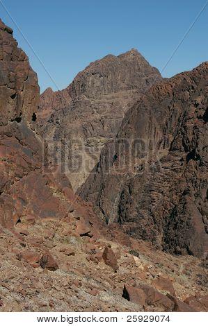 Mount Sinai aka Jebel Musa (2285 m) on Sinai Peninsula, Egypt