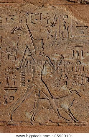Queen Hapshepsut, relief from Hatshepsut's Red Chapel in Karnak Temple near Luxor, Egypt poster