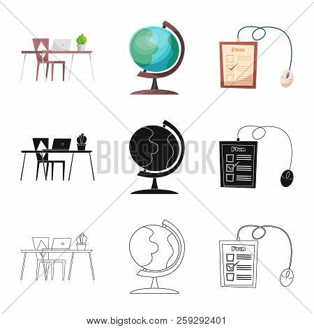 Isolated Object Of Education And Learning Symbol. Collection Of Education And School Stock Vector Il