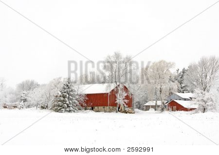 Winter Homestead Christmas Card