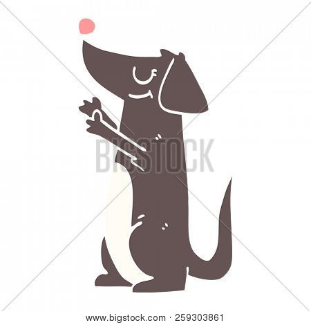 cartoon doodle well behaved dog poster