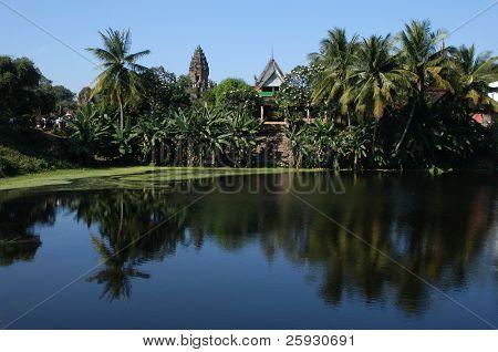 Bakong Temple in Roluos Village, the Angkor Area near Siem Reap, Cambodia.