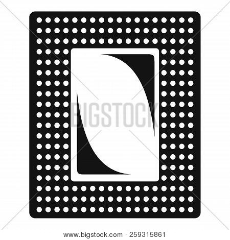 Contraceptive patch icon. Simple illustration of contraceptive patch icon for web design isolated on white background poster