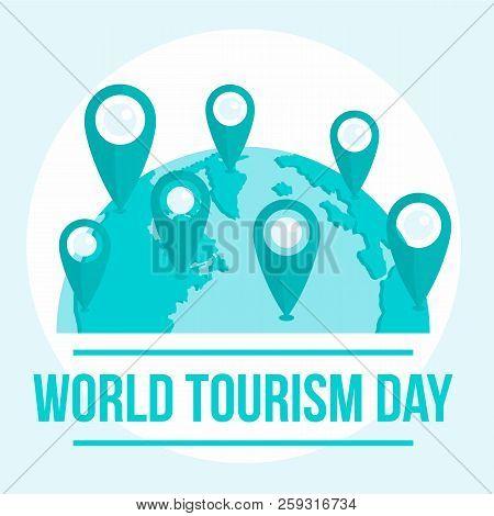 International Tourism Day Background. Flat Illustration Of International Tourism Day Background For