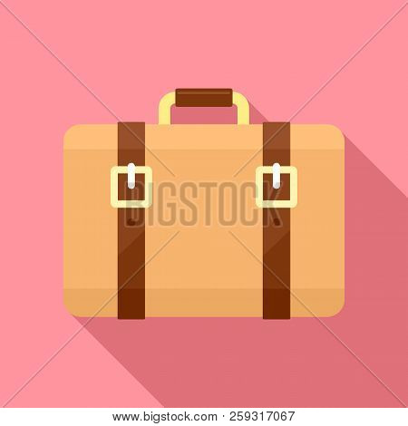 Trip Leather Bag Icon. Flat Illustration Of Trip Leather Bag Icon For Web Design