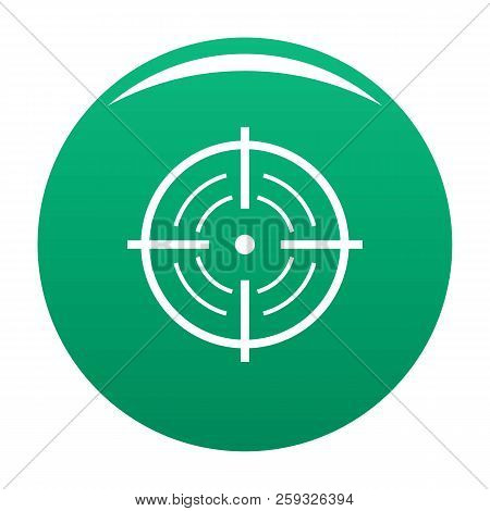 Rear Sight Icon. Simple Illustration Of Rear Sight Icon For Any Design Green
