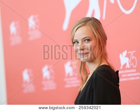 Saskia Rosendahl attends 'Werk Ohne Autor (Never Look Away)' photocall during the 75th Venice Film Festival at Sala Casino on September 4, 2018 in Venice, Italy.