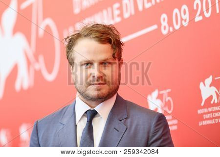 Brady Corbet attends 'Vox Lux' photocall during the 75th Venice Film Festival at Sala Casino on September 4, 2018 in Venice, Italy.