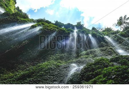 Madakaripura Waterfall, Natural View From East Java, Indonesia.