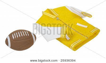 Letterman Jacket And Footbal