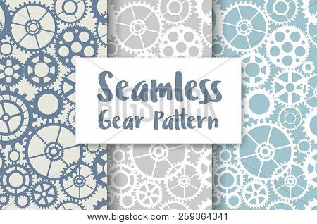 Seamless Wheel Gear Machine Pattern Industry Concept