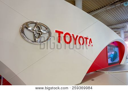 Tokyo, Japan - April 20 2018: Toyota Mega Web In Odaiba Island Is An Automotive Focused Theme Park A