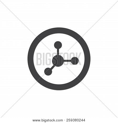 Nitrate Food Vector Icon. Filled Flat Sign For Mobile Concept And Web Design. Chemical Molecule Soli