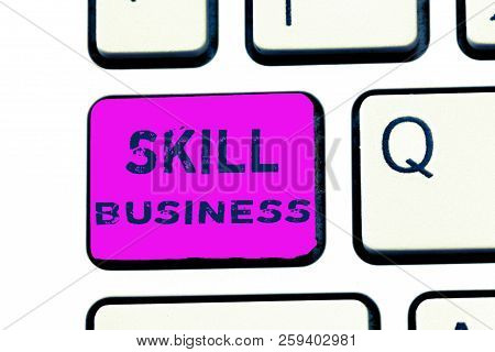 Text Sign Showing Skill Business. Conceptual Photo Ability To Handle Business Venture Intellectual E