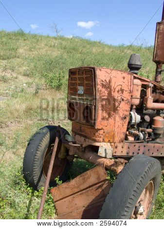 Old Rusty Russian Tractor