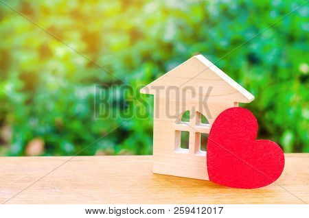 House With A Red Heart. House Of Lovers. Affordable Housing For Young Families. Valentine's Day Hous